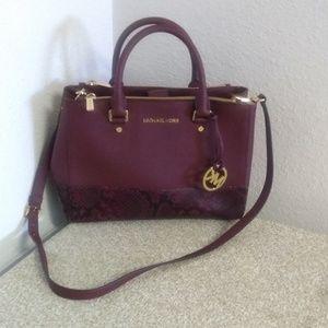Michael Michael Kors Snake Embossed Leather Bag